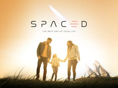 Spaced Challenge - Branding minimal sleek space future wordmark icon spacedchallenge logo branding