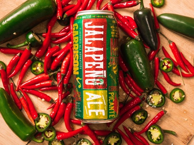Jalapeno Ale Beer Can packaging mexican hot peppers typography retro spicy red beercan beerbranding beer jalapeno