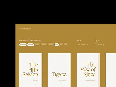 Storygraph 1/3 web website fiction drama sanderson elf fantasy filters storygraph goodreads reading books
