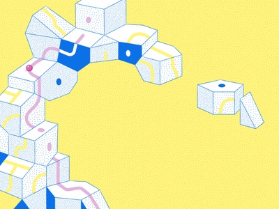 Pathfinder blocks building blocks abstract components dots pattern toys modular path