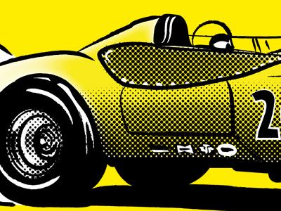Moonbeam 200 preview 02 races halftones 60s vintage press article magazine illustrator illustration dragster hot rod