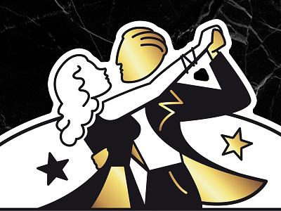Prestige Danse - dancers artwork france prestige danse le prestige dancers dance 1930 art deco typography logo design rock n roll vintage illustrator illustration