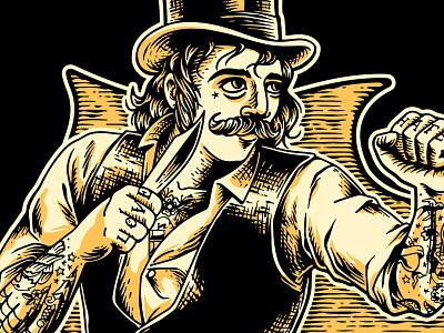 APG - Stay Bladed - Men tshirt (detail) typography logo design artwork retro vintage illustrator illustration fight fighter knife merch merchandising