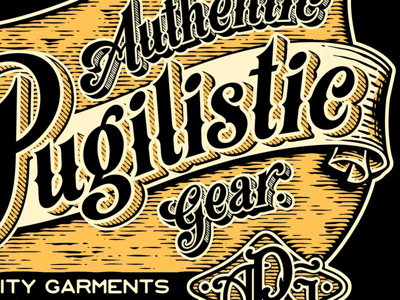APG - Stay Bladed - Typography (detail) design monogramme 1890 1900 knife fight victorian typography logo retro rock n roll vintage illustrator illustration