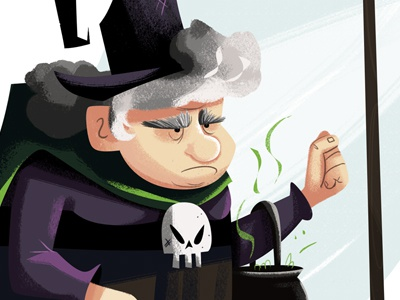 Old witch dribbble