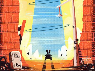 EVE - PixArt November Feature illustration pixar wall-e eve disney pixart robot
