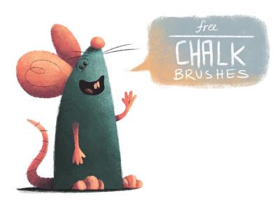Free Chalk Brushes chalk brushes photoshop freebies mouse digital downloads