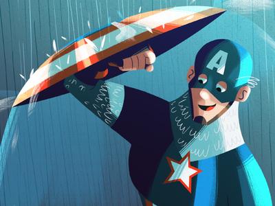 Captain America captain america marvel fan art character illustration digital