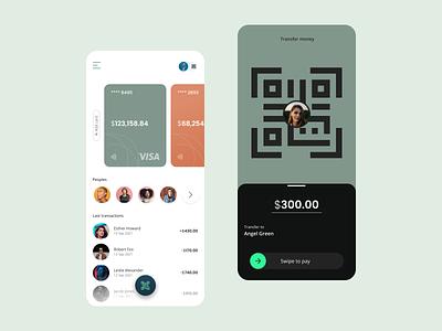 Payments App Concept best design ux design dest ui app ui payment app money best qr payments finance app finance fintech design ui design minimal ux app ui dribble best shot clean