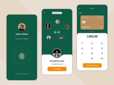NFC Payment app ux deisgn nfc card payment money payment app finance app fintech app best ui minimal ui fintech ui fintech app ui ui design minimal ux dribble best shot app ui clean