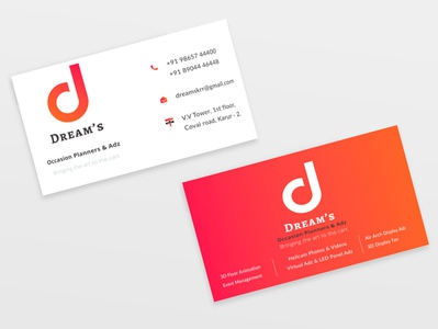 Dream's Business Card