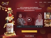Vimto Let's Celebrate Togetherness Microsite