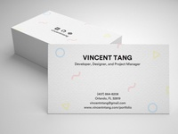 Business Card Design with Mockup