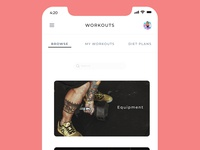 Workout and Diet plan app concept