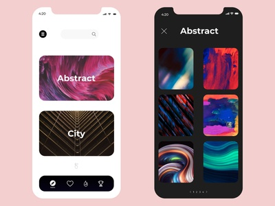 Wallpaper app UI