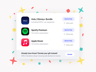 Free gift button - Weekly UI bundle (animation) delightful moments of delight dribbble invites free gift animation motion design challenge ux ui  ux ui design ui design