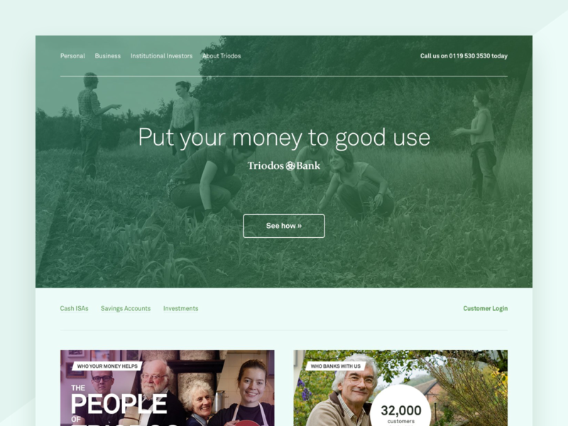 Triodos UI Explorations bank finance app banking