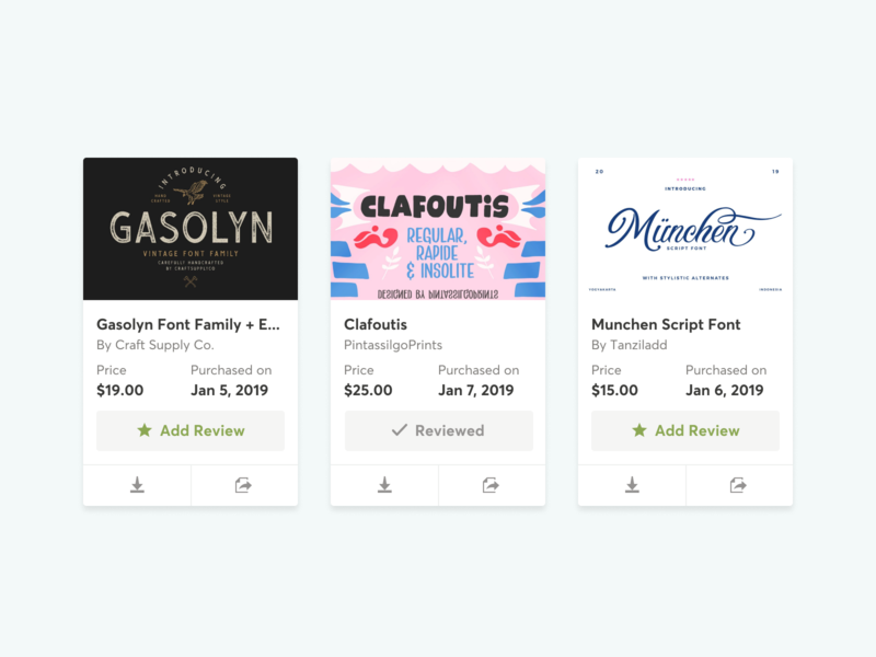 Reviews now on Creative Market! rating review reviews marketplace ux ui  ux ui design ui design