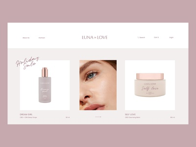 Skincare E-commerce Concept brand identity beauty branding branding design packagedesign packaging logo minimalism feminine serum cream skincare logotype ux ui e-commerce luxury cosmetics cosmetic beauty brand beauty