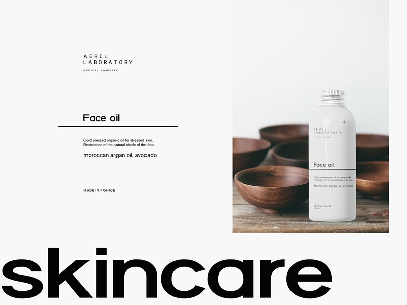 Packaging for Beauty Brand Aeril Lab beauty product face oil package beauty logo package design logotype body lotion cream packaging minimalism brand identity branding brand cosmetics cosmetic skincare medical
