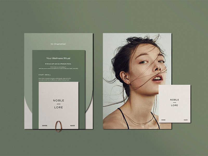 Collateral for CBD Wellness Brand collateral design wellness cbd skincare cosmetic beauty logotype collaterals brand identity collateral feminine packaging minimalism cosmetics branding