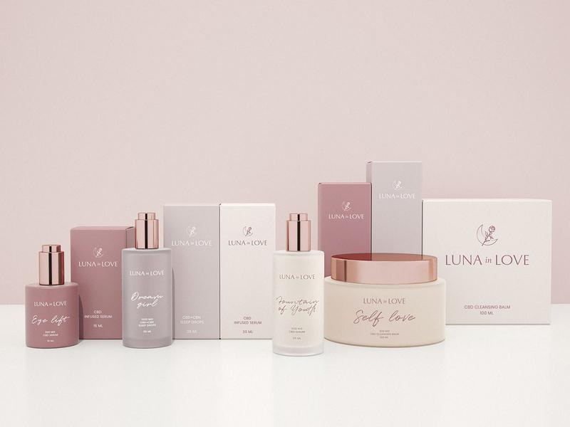 Package Design for CBD Beauty Brand beautyidentity packagingdesign packaging design luxury brand identity beauty cosmetic skincare feminine packaging minimalism cosmetics branding
