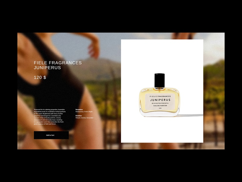Fragrance Product Page ecommerce shop skincare cosmetic brand identity typography interface branding user interface design ui fashion fragrance clean e-commerce website beauty website website