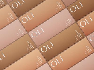 Package Design for Beauty Brand Oli fragrance oils tanning brand branding cosmetics typography feminine box package design packaging package