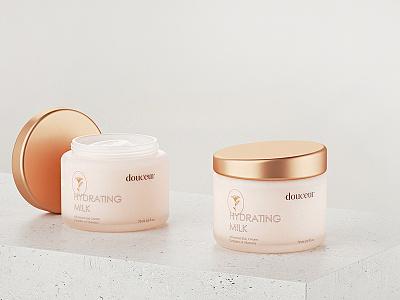 Skincare Label Design for Beauty Brand Douceur skincare cosmetics package packagedesign packaging brand identity minimalism feminine luxury logo brand branding luxury brand luxury