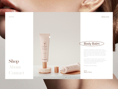 Skincare Brand Website Concept beauty product beauty skincare luxury brand luxury minimalism feminine typography ux ui logotype brand branding package packaging cosmetic cosmetics