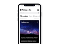Wikipedia for iPhone X