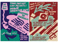 New posters for Young and Lost Club