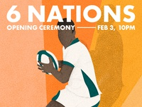 6 Nations - Opening ceremony event Poster & Illustration