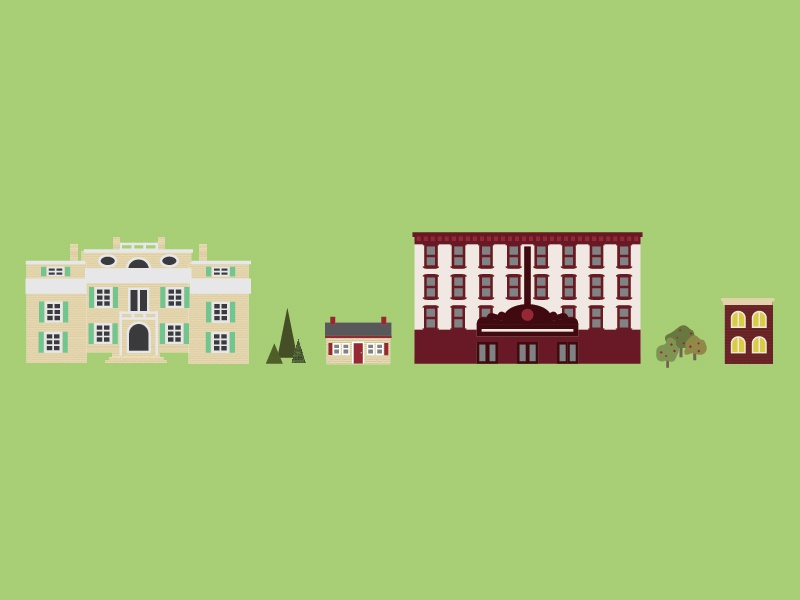 SUNY New Paltz Illustrations - Buildings by Cinder Design Co ...