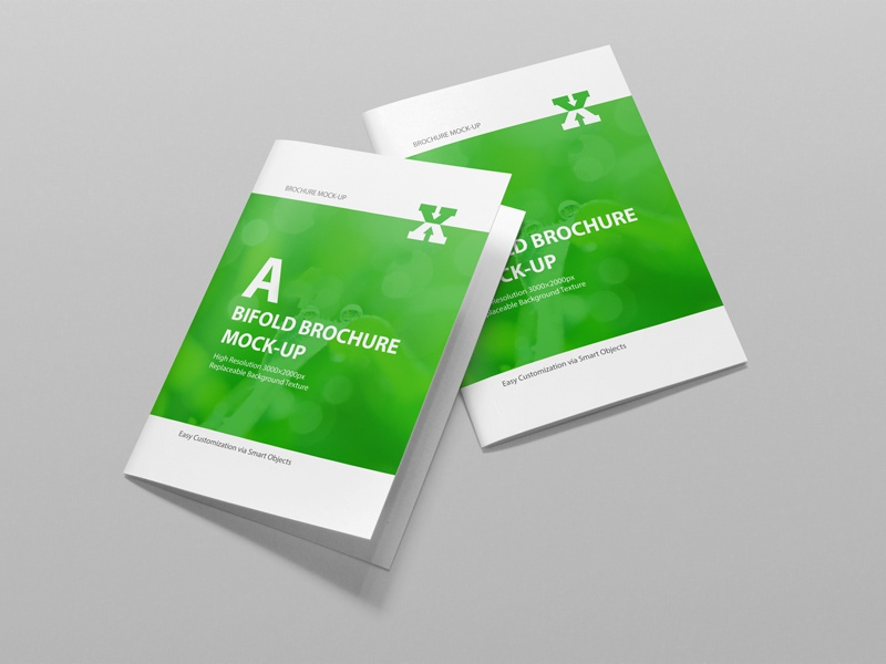 A4 Bifold Brochure Mockup smart object mockup mock-up elegant corporate clean brochure mockup brochure bifold bi-fold a4 muck-ups a4