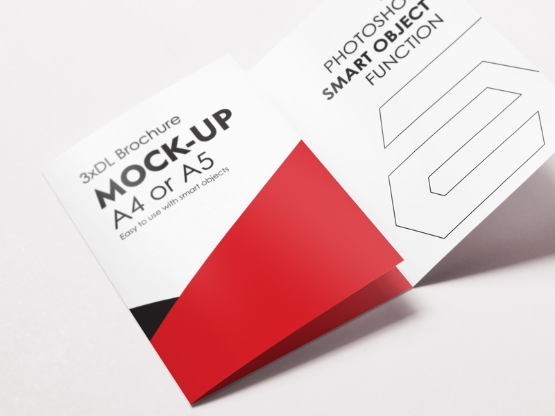 a4 or a5 trifold brochure by diephay dribbble dribbble