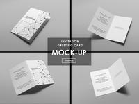 Invitation / Greeting Card Mock-Ups