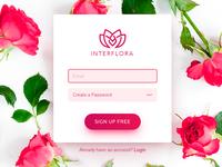 INTERFLORA. Sign up