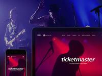 Ticketmaster. Concept redesign