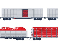 Wagons. Illustration for web project