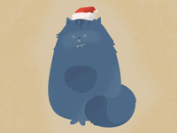 My cat don't like Christmas holidays and hats ;)