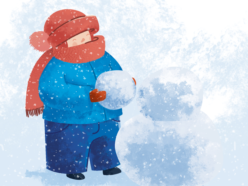 Snow time illustration snow