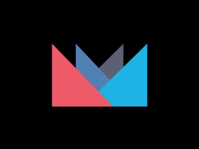 Personal Logomark logo logomark tangrams m