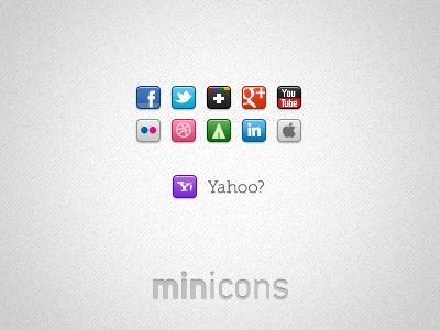 Mini Social Icons icons social mini subtle wip sharing