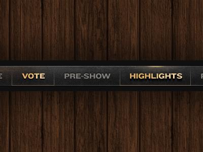 Navigation - WIP menu nav gold gritty wood denim rollover hover