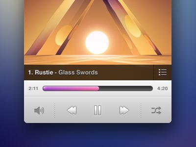 Music Player II music player ui buttons progress play rustie glass swords