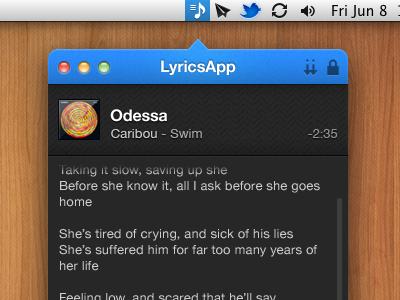 Lyrics app v2