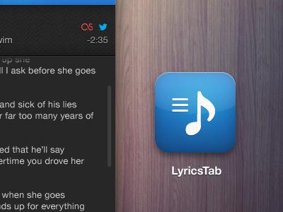 Lyrics App Icon simple icon social ios wood twitter lastfm