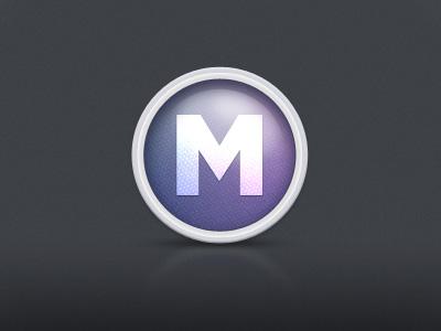 Avatar Icon icon round gloss purple m
