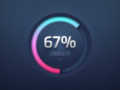 Round Progress Meter (PSD Freebie) meter round progress ui shadow percent freebie psd